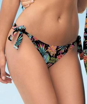 Slip de bain bikini ANTIGEL LA TROPICALE NOIR TROPICAL