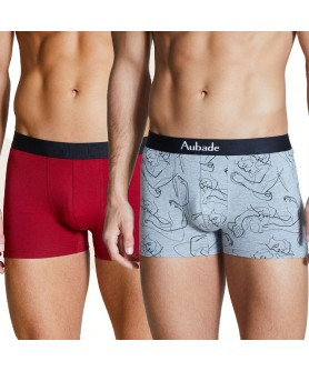 Duo Boxer AUBADE MEN BLEU LOVE