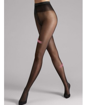 Collants WOLFORD SYNERGY 40 DENIERS LEG SUPPORT BLACK