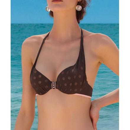 Haut de maillot de bain corbeille coque LISE CHARMEL SIMPLEMENT BEACH JAVA ROSE