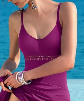Maillot de bain une pièce nageur avec maintien LISE CHARMEL AJOURAGE COUTURE AJOUARAGE VIOLET