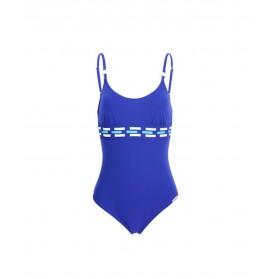 Maillot de bain une pièce nageur maintien LISE CHARMEL TRANSAT FASHION TRANSAT BLEU