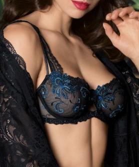 Soutien-gorge corbeille couture verticale LISE CHARMEL NUIT ELEGANCE NUIT SAPHIR