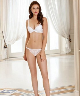 -50% COLLECTION LISE CHARMEL TRANSPARENCE DESIR BLANC