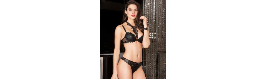 -50% COLLECTION LISE CHARMEL AJOURAGE PETALES NOIR