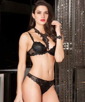 -60% COLLECTION LISE CHARMEL AJOURAGE PETALES NOIR