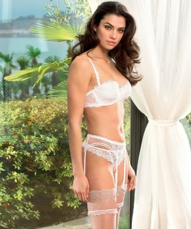 -50% COLLECTION LISE CHARMEL AJOURAGE PETALES BLANC