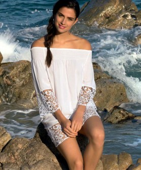 -50% COLLECTION LISE CHARMEL PLAGE ET VILLE BLANC