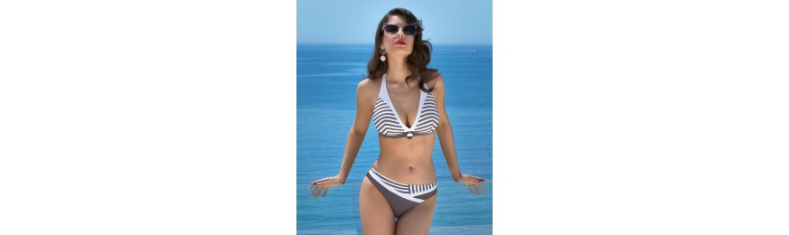 -50% COLLECTION LISE CHARMEL NEW CROISIERE TAUPE BLANC