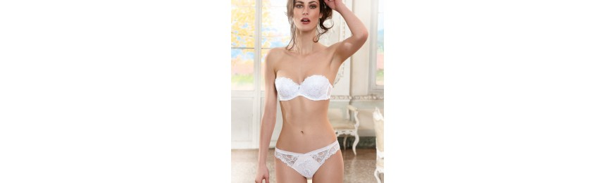 COLLECTION LISE CHARMEL DRESSING FLORAL BLANC