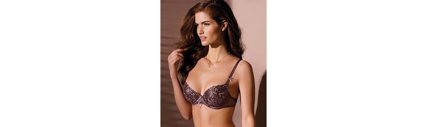 -50% COLLECTION ANTINEA DE LISE CHARMEL FASHION GUIPURE MAUVE SATIN