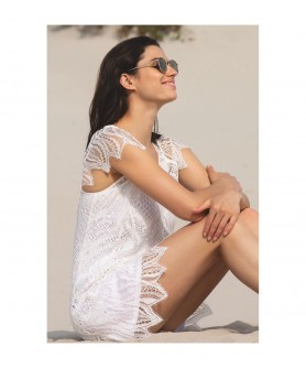 -60% COLLECTION LISE CHARMEL TRANSPARENCE ECUME BLANC